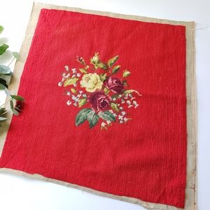 Vintage rose Embroidery art piece